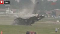 F-16 Pistten Kalkamayınca Toprağa Çakıldı