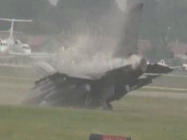 F-16 Toprağa Çakıldı