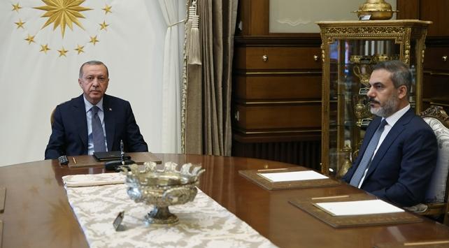 Cumhurbaşkanı Erdoğan MİT Başkanı Fidanı kabul etti