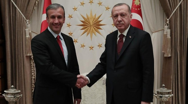 Cumhurbaşkanı Erdoğan Tareck El Aissamiyi kabul etti
