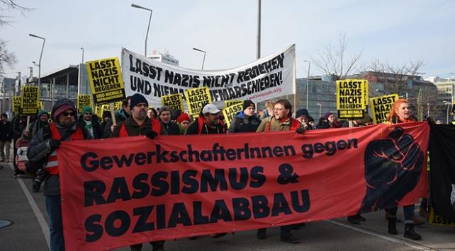 Avusturyada aşırı sağcı parti karşıtı gösteri