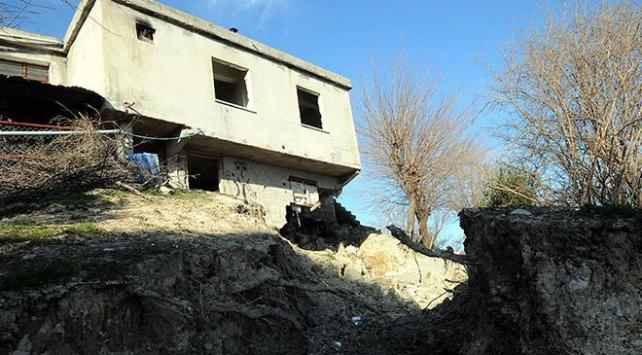 Osmaniyedeki heyelanda 50 ev hasar gördü