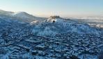 Tarihi Kütahya Kalesinde beyaz güzellik