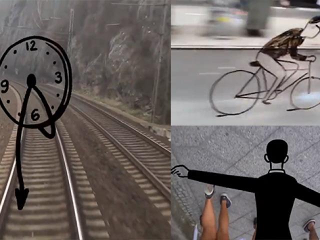 Alman sanatçının çizimleriyle sokaklarda ilginç yolculuk