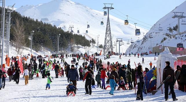 Doğu Anadoludaki kayak merkezlerine büyük ilgi