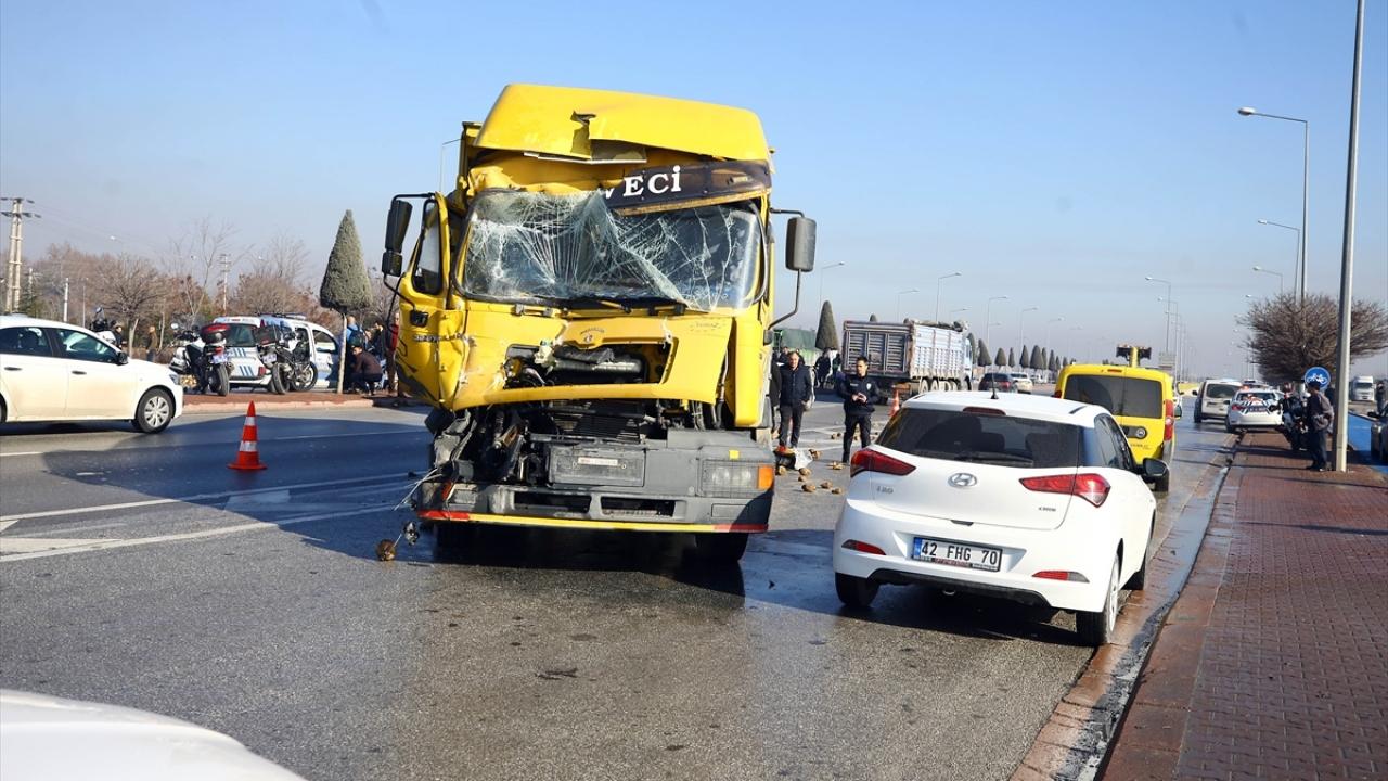 Konyada zincirleme trafik kazaları: 1 ölü, 7 yaralı