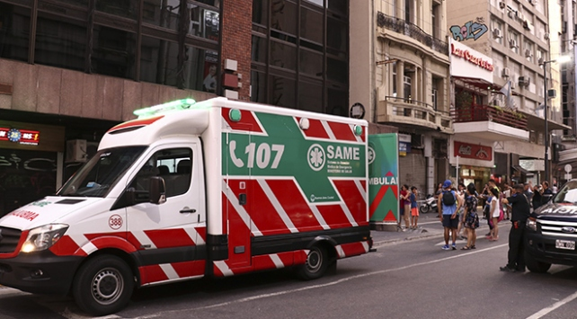 Arjantinde otel yangını: 1 ölü, 50 yaralı