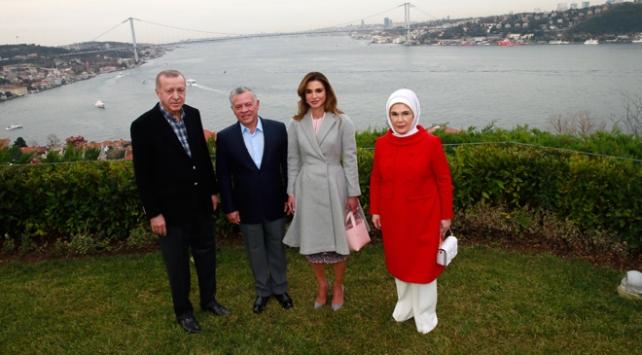 Cumhurbaşkanı Erdoğan Kral 2. Abdullahı ağırladı