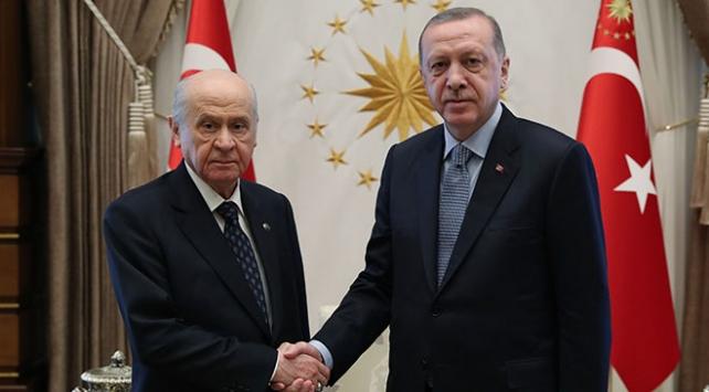Cumhurbaşkanı Erdoğan ile Bahçeli görüştü