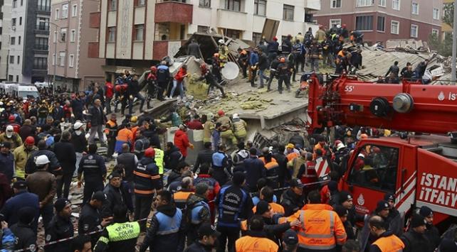 İstanbul Kartalda 7 katlı bina çöktü