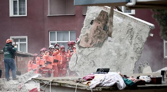 Kartalda çöken binada yaşamını yitirenlerin sayısı 16ya yükseldi
