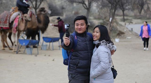 Kapadokyada Çinli turist yoğunluğu
