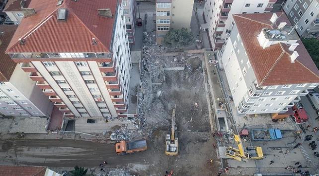 Kartaldaki çöken binaya ilişkin soruşturma sürüyor