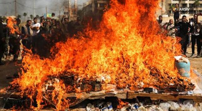 Pakistanda 10 ton uyuşturucu yakıldı