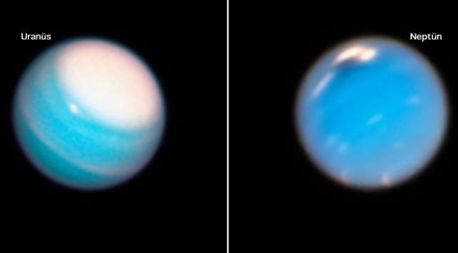 Hubble Neptün ve Uranüs'teki fırtınaları görüntüledi