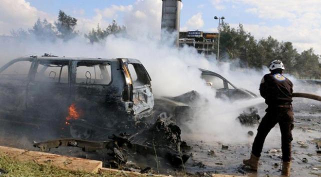 Suriyede bomba yüklü araç saldırısı