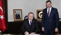 Cumhurbaşkanı Erdoğan Çorum Valisi'ni kabul etti