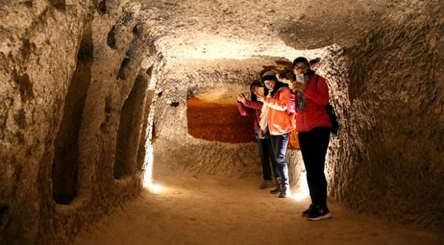 Kapadokyanın yer altı şehirleri 1 milyonu aşkın turisti ağırladı
