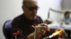 """80 yaşındaki Taif dedenin """"gençlik aşısı"""" cam sanatı"""