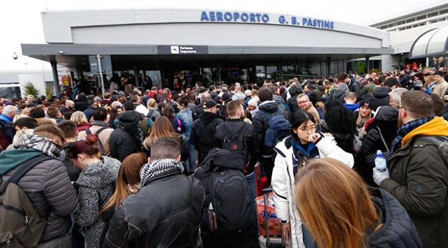 İtalyadaki Ciampino Havaalanında yangın