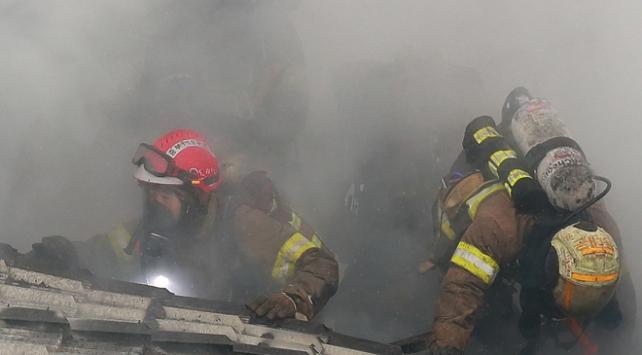 Güney Korede saunada yangın: 2 ölü, 70 yaralı