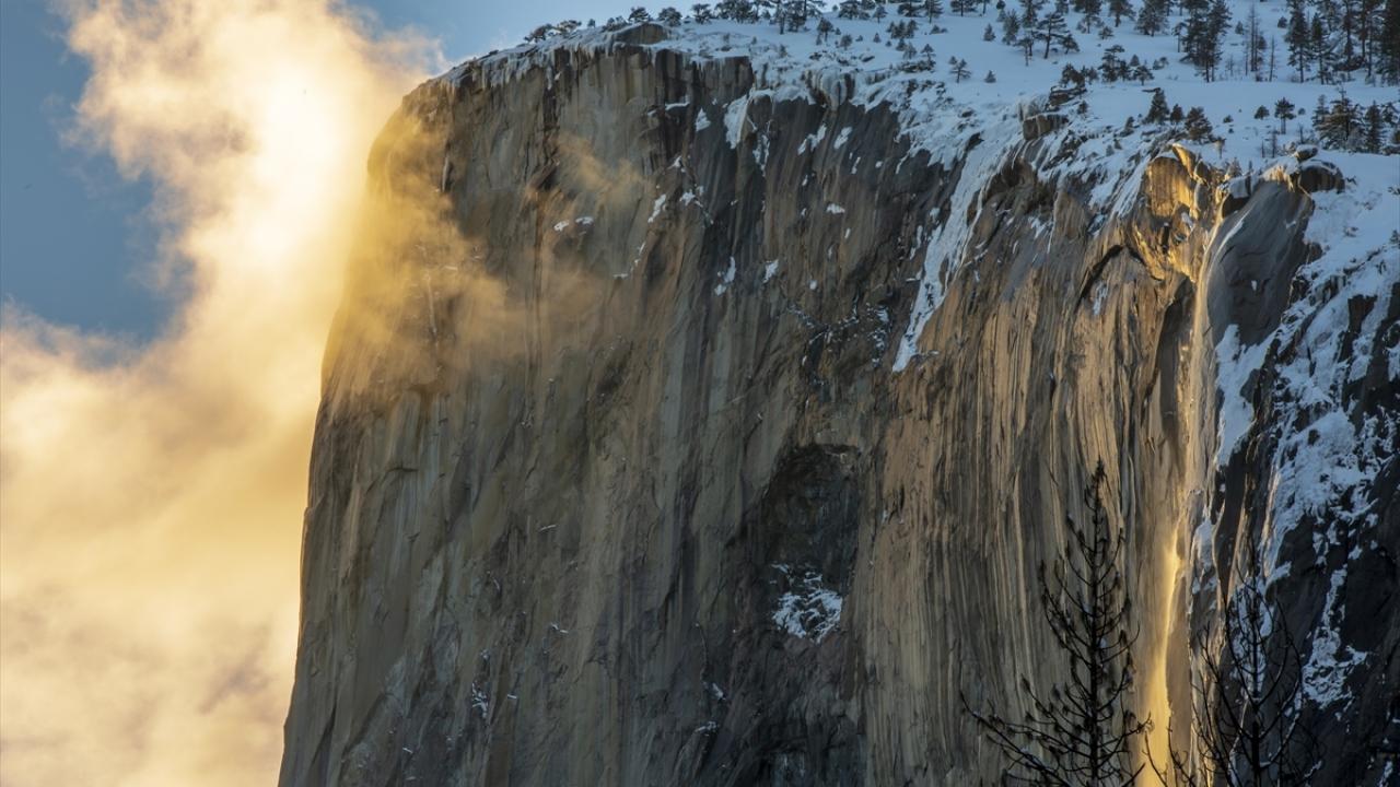 Yosemite Vadisinden kış manzaraları