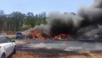 Hindistan'da otoparktaki 300 araç yandı