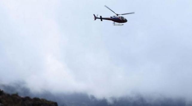 Nepalde Turizm Bakanını taşıyan helikopter düştü: 7 ölü