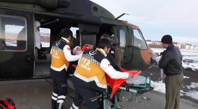 Askeri helikopter 78 yaşındaki hasta için havalandı