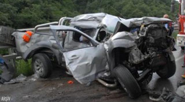 Erzurumda trafik kazası: 1 ölü, 5 yaralı