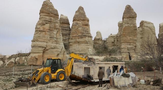 Kapadokyada 4 ayda 84 yapı yıkıldı