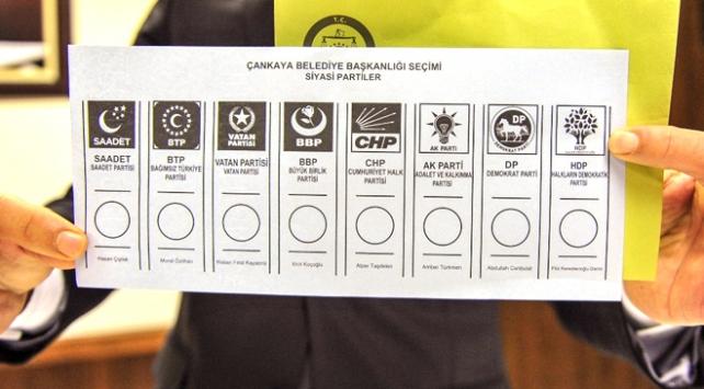 Yerel Seçimde Kullanılacak Oy Pusulaları Hazır