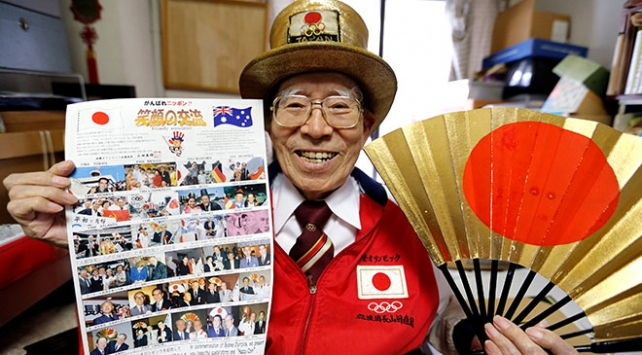 """""""Olimpik Büyükbaba"""" 55 yıldır Yaz Olimpiyatlarını kaçırmıyor"""