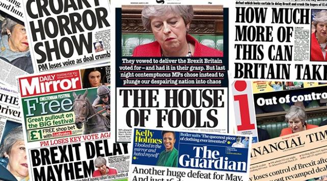 İngiltere basınında Brexit depremi: Mayin koltuğu tehlikede