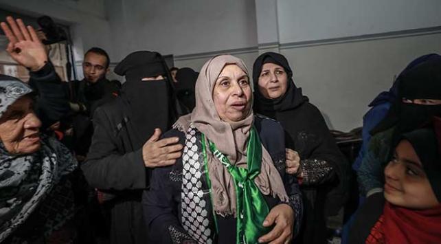 İsrailin 2 yıl önce tutukladığı Gazzeli kadın serbest