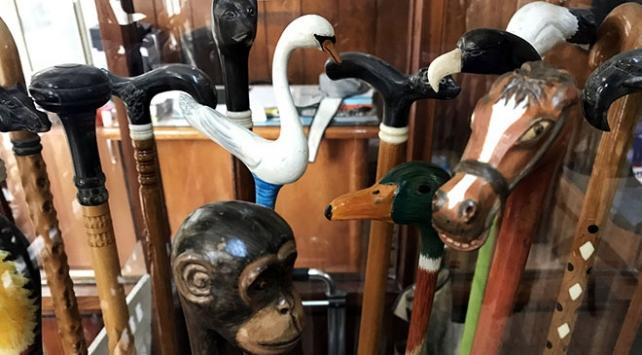 Hayvan figürlerinden bastonlar