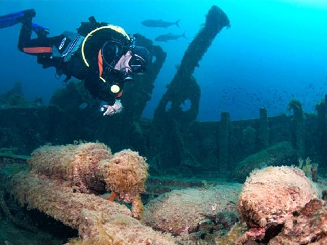Çanakkale Boğazının batık gemileri dalış turizmine kazandırılıyor