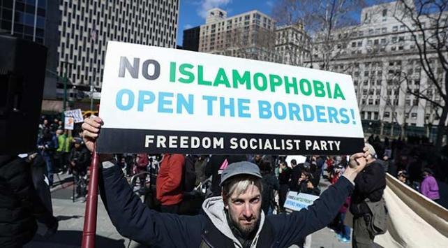New York'ta Yeni Zelanda'daki terör saldırılarına protesto