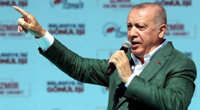 Cumhurbaşkanı Erdoğan: İzmir'i korkular üzerinden istismar ettiler