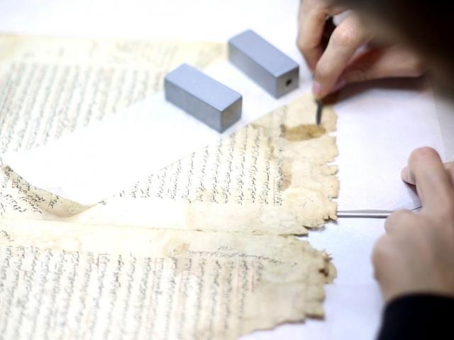 El yazması eserler Sülymaniye Kitap Şifahanesinde onarılıyor