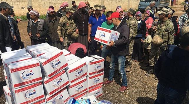 Afrinde 362 noktaya insani yardım ulaştırıldı