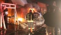 Kocaeli'de sanayi sitesinde yangın