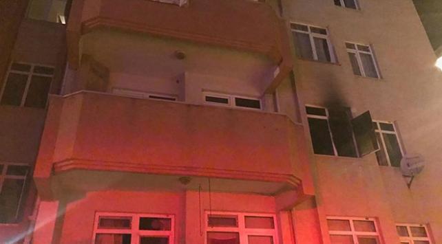 Edirnede öğrenci evinde yangın