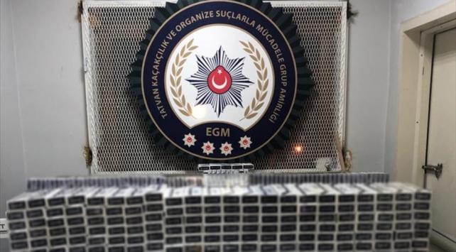 Bitliste 9 bin 870 paket kaçak sigara ele geçirildi