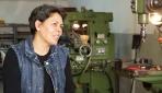 Aşkı için Türkiyeye geldi, eşine destek için tornacı oldu