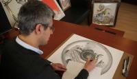 """""""Ressam polis""""in özgün çalışmaları"""