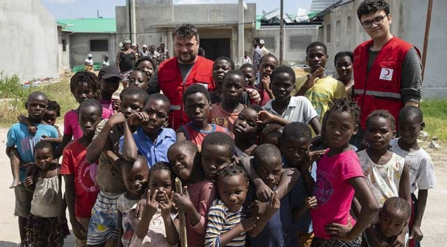 Türk Kızılaydan Mozambike gıda yardımı