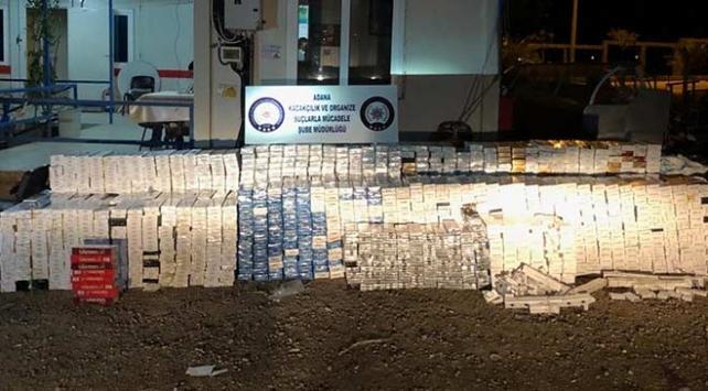 Adanada kaçakçılık operasyonu: 29 bin sigara ele geçirildi