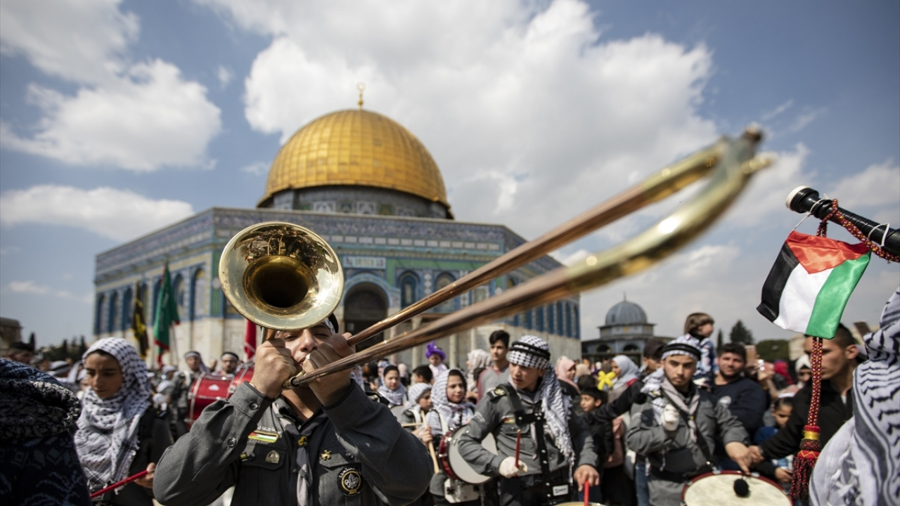 Kudüste İsra-Miraç coşkusu