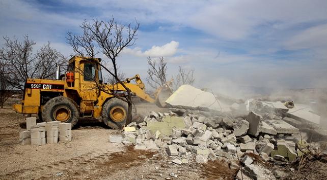 Kapadokyada son 5 ayda 101 yapı yıkıldı